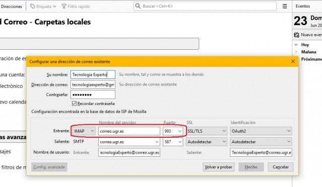 Configurar IMAP