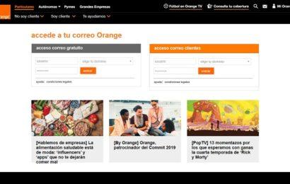 Cual es la configuración del correo electronico de Orange