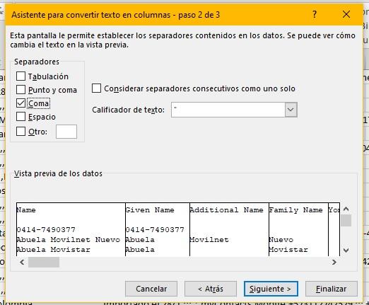 Como crear un formato de contactos Excel