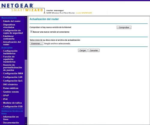 actualizar el Firmware