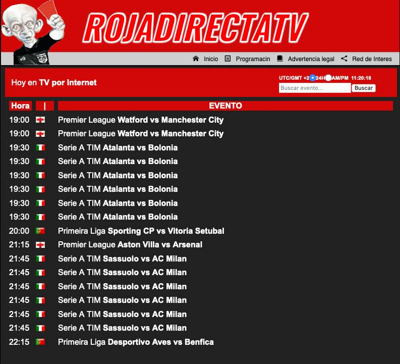 Roja Directa TV ver partidos gratis