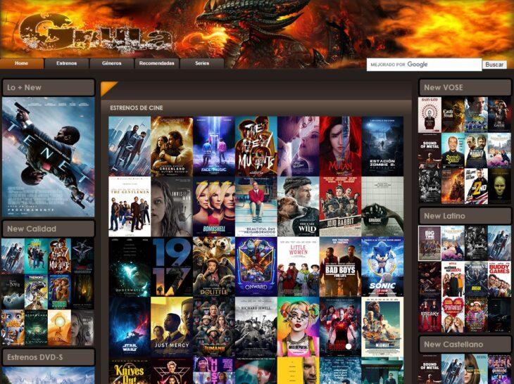 Web gnula para ver películas y series gratis