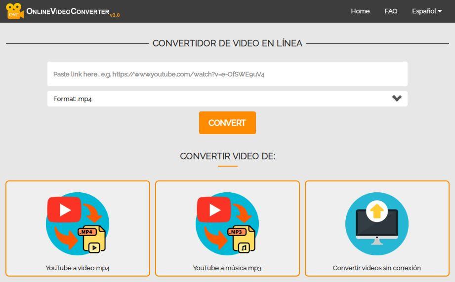 Convertidor de YouTube a MP3 Online Video Converter