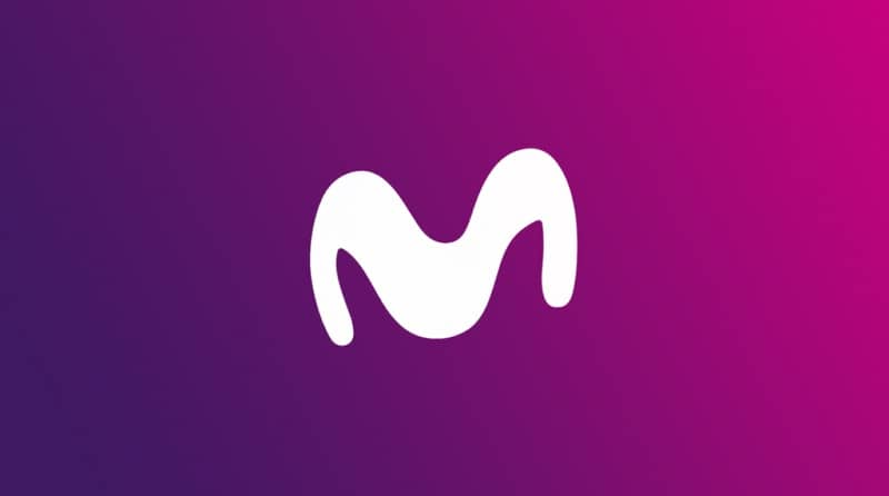 logo movistar purpura