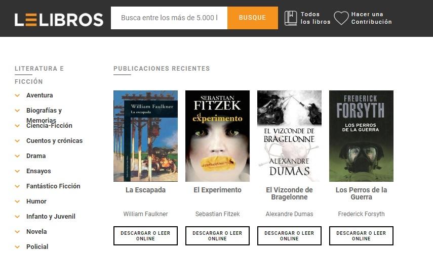 Mejores webs para descargar libros gratis en PDF, Ebooks y ePub sin registrarse - lelibros