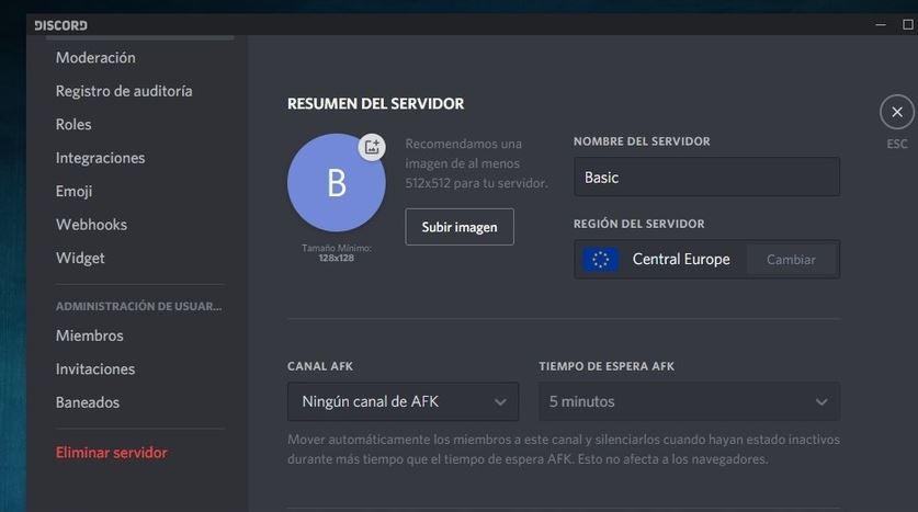 creando servidores de discord